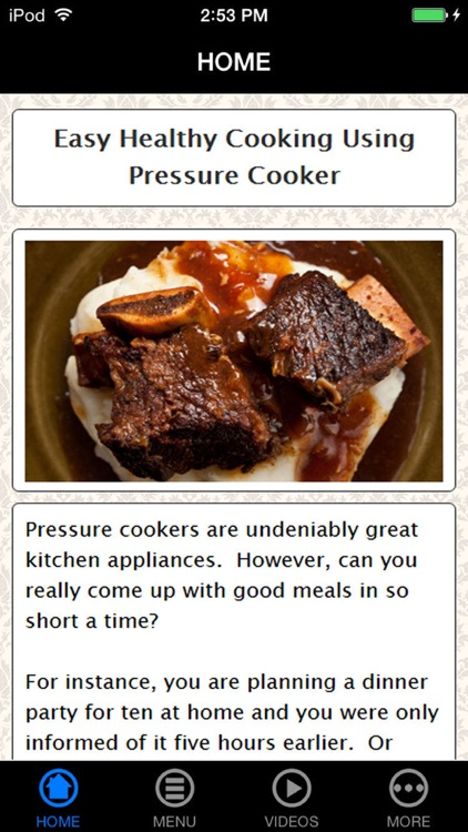 What Mom Never Told You About Pressure Cooker Recipes screenshot-0