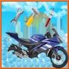 摩托车洗沙龙清洁及洗涤模拟器