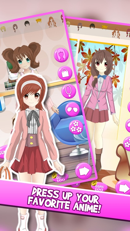 Anime Girl DressUp Chibi Character Games For Girls