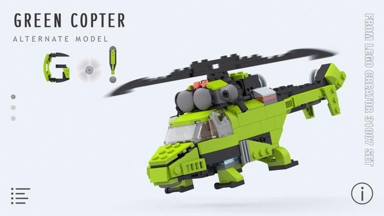 Green Copter For Lego Creator 31007 Set Building Instructions By
