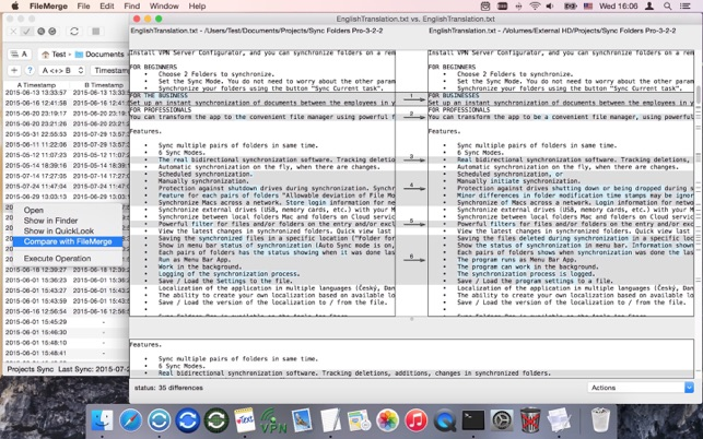 Compare & Sync Folders Screenshot