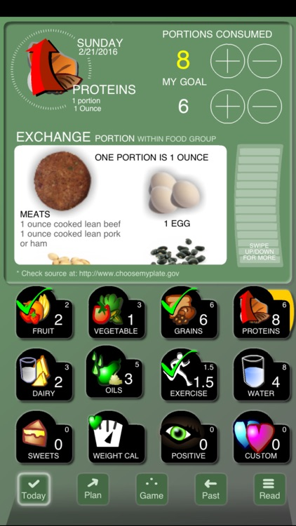 Checkoff Portions Diet Tracker - Visual Group Exchanges screenshot-3