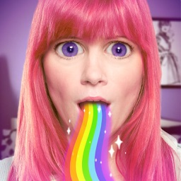 Rainbow Mouth - GIF Stickers for your photos