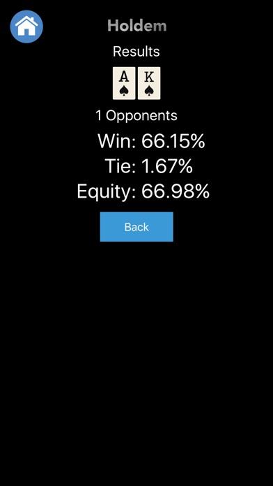 Poker Odds - Apple Watch Edition Screenshot