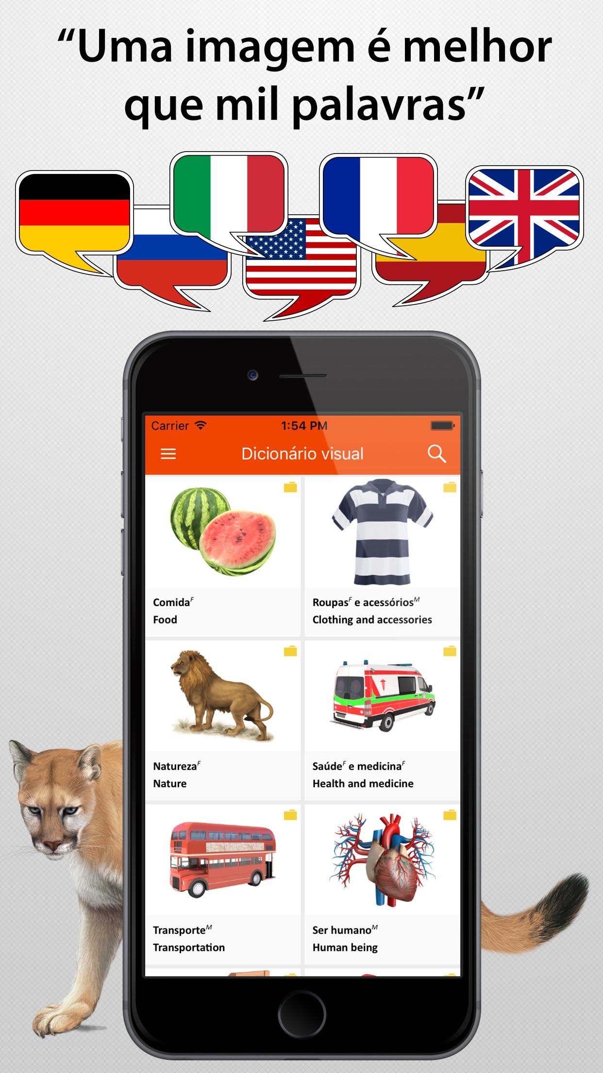Screenshot do app Dicionário Visual JOURIST