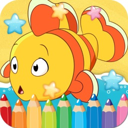 Ocean Drawing Coloring Book - Cute Caricature Art Ideas pages for kids