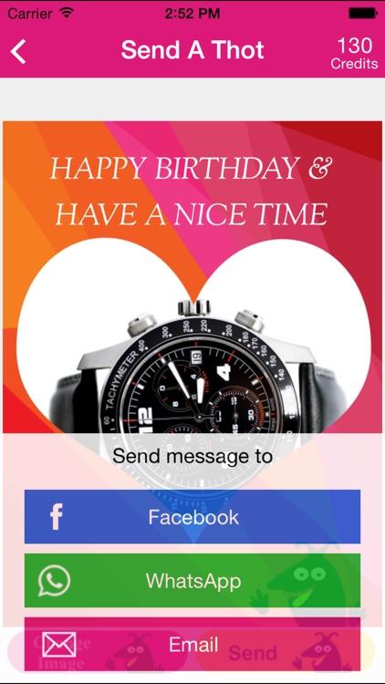 ThotOfU: Send friends picture greetings thru Social Network screenshot-4