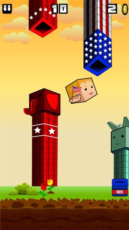 Flappy Donald Trump vs. Hillary Election Run – Face Off Flyer President screenshot-3