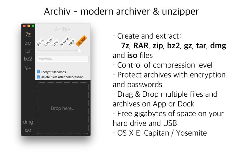 Archiv: 的现代化压缩解压工具