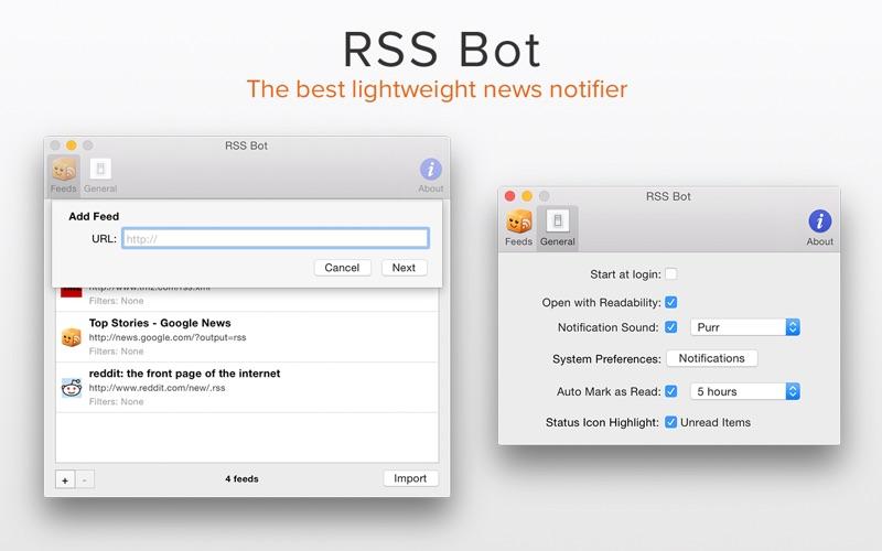 RSS Bot Screenshot