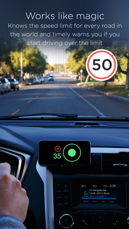 Speed cameras and speed limits with HUD mode — Speedometer by HUDWAY