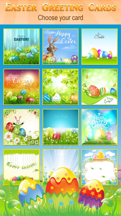 Happy Easter Greeting Card.s Maker - Collage Photo & Send Wishes with Cute Bunny Egg Sticker