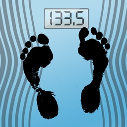 60beat Blue Bathroom Scale