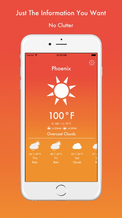 GoodWeather - Temperature Color Weather App screenshot-4