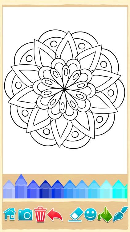 mandala coloring pages game by 2 monkeys. Black Bedroom Furniture Sets. Home Design Ideas