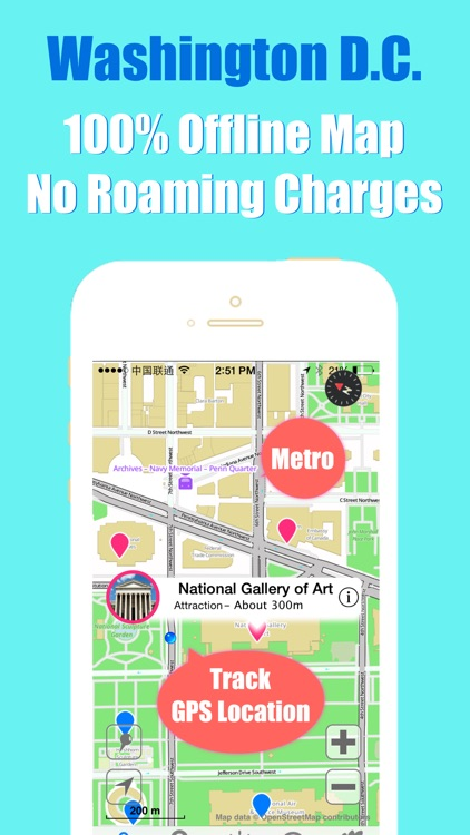 Washington DC travel guide with offline map and WMATA metro transit by BeetleTrip