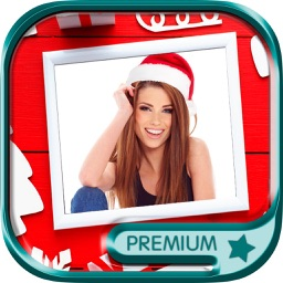 Christmas Frames for photos to design Christmas cards and wish merry xmas on Christmas Eve - Premium