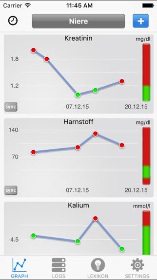 Screenshot for Blutwerte PRO in Germany App Store