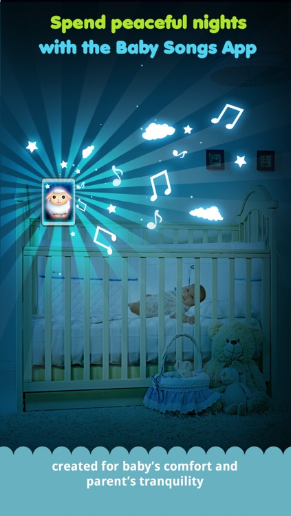 Baby songs 2 : bed time companion with lullabies,white noises and night light
