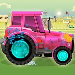Tractor Simulator Game - Kids Washing