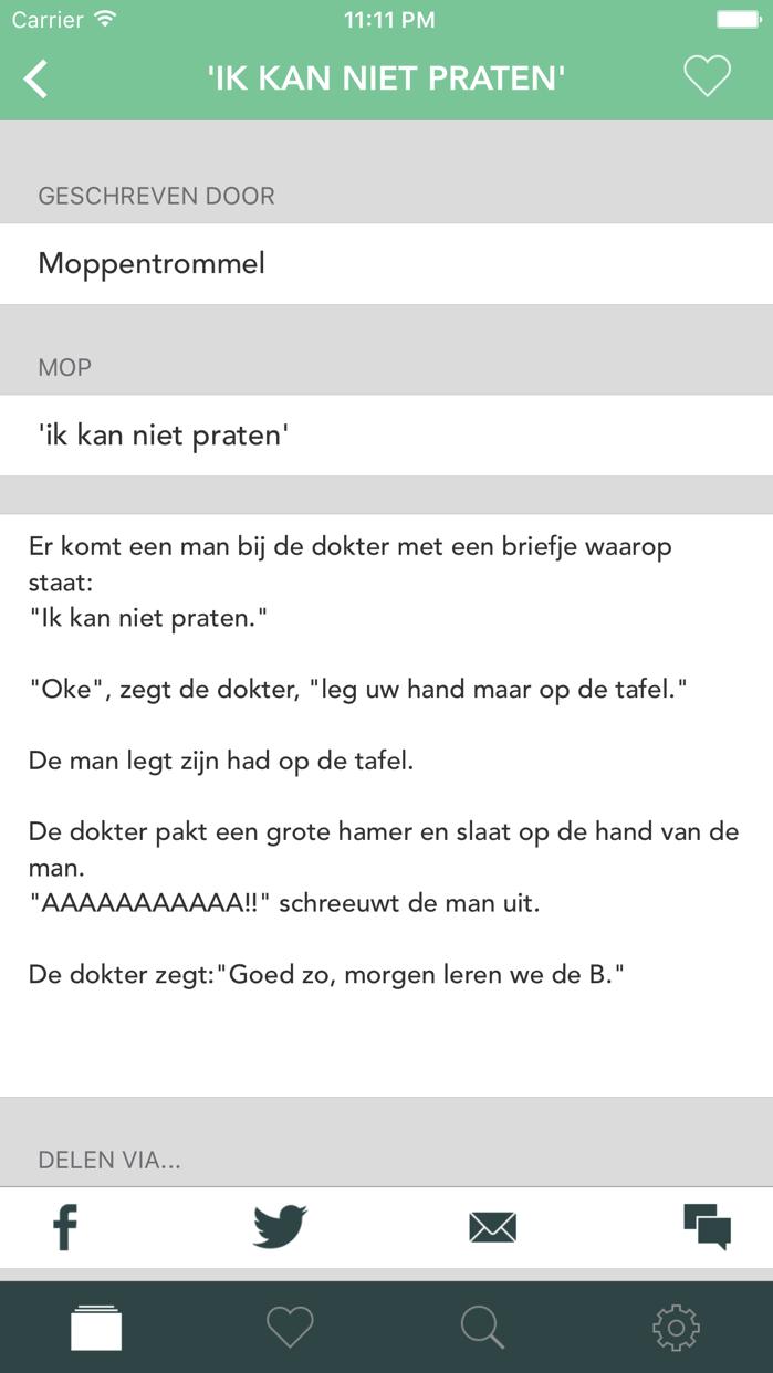 Moppentrommel Pro - De Nederlandstalige moppen applicatie Screenshot