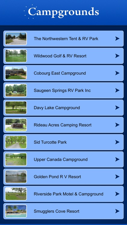 Ontario Campgrounds and RV Parks