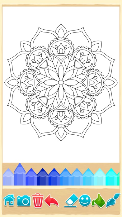 Mandala Coloring Pages Game Screenshot