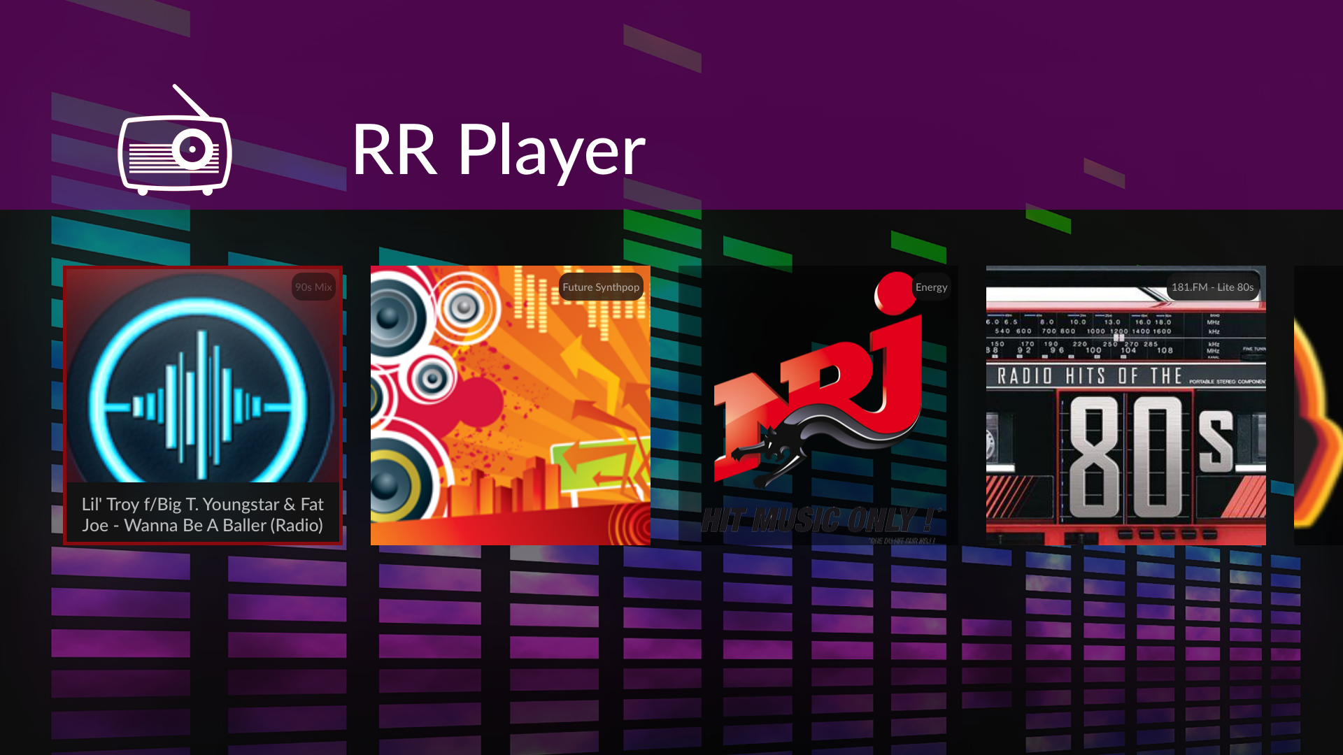 RR Player screenshot 2
