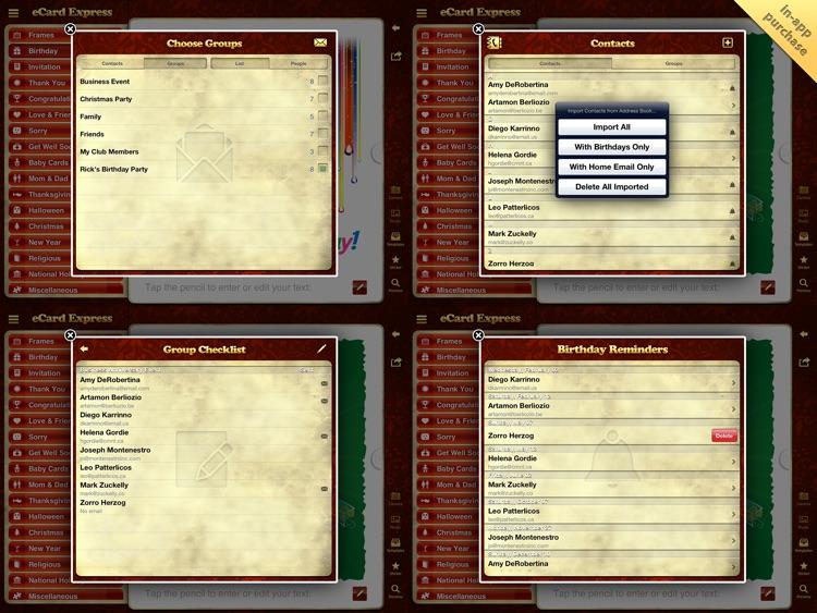 eCard Express HD: Personal and Business eGreetings screenshot-4