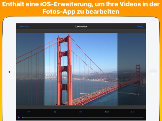 Videos zuschneiden Screenshot