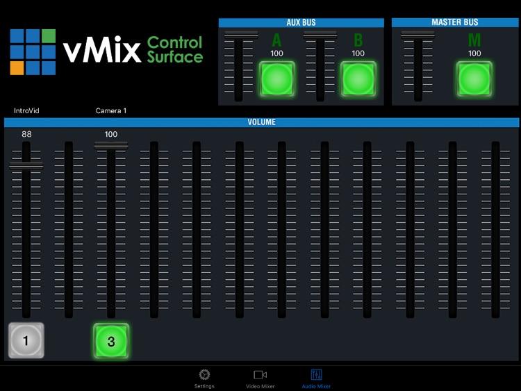 vMix Virtual Control Surface