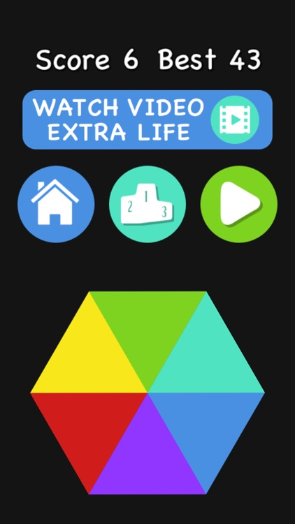 Color Spin - Match The Color Of The Dropping Balls With The Spinning Hexagon screenshot-3