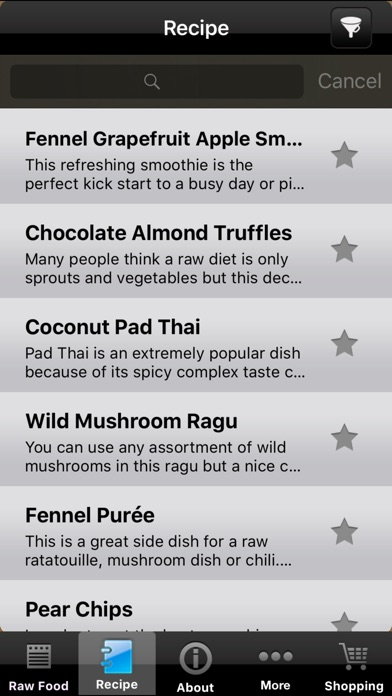 Screenshot for Raw Food Diet Pro - Healthy Organic Food Recipes and Diet Tracker in Venezuela App Store