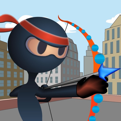 An Archer Ninja Stick - Bow And Arrow target practice Game