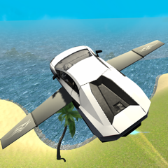 Flying Car Driving Simulator Free: Extreme Muscle Car - Airplane Flight Pilot