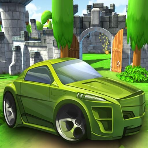 Cartoon Car Driving