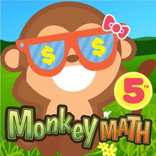 5th Grade Math Curriculum Monkey School Free game for kids iOS App