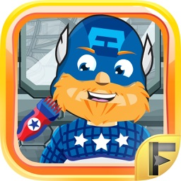 Superhero Shave Salon Adventure - Free Comic Games For Kids