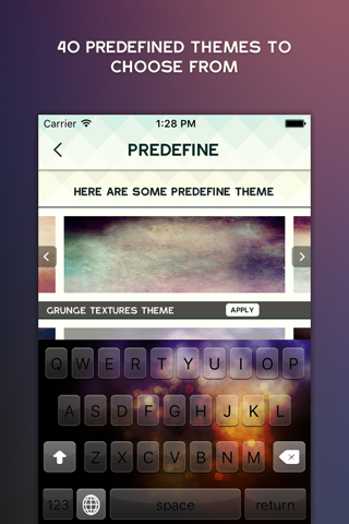 Classy Keyboard Themes - New Designs & Fonts for iPhone & iPod screenshot 2