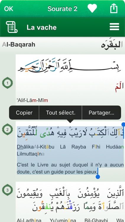 Coran Tajwid et Tafsir en Français, en Arabe et en Transcription Phonétique - القران الكريم تجويد screenshot-1