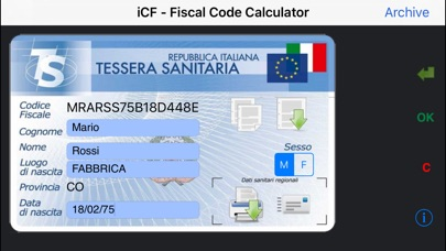 iCF - Codice Fiscale