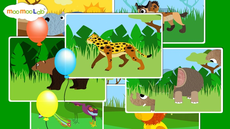 Zoo Animals - Animal Sounds, Puzzles and Activities for Toddlers and Preschool Kids by Moo Moo Lab screenshot-3