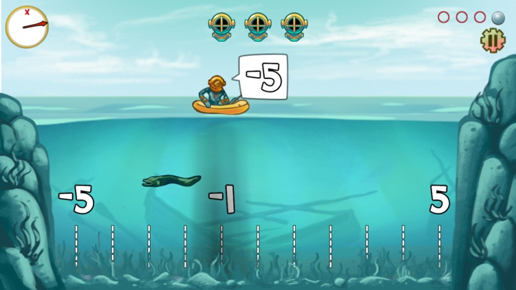 Pearl Diver: Number Line Math Game