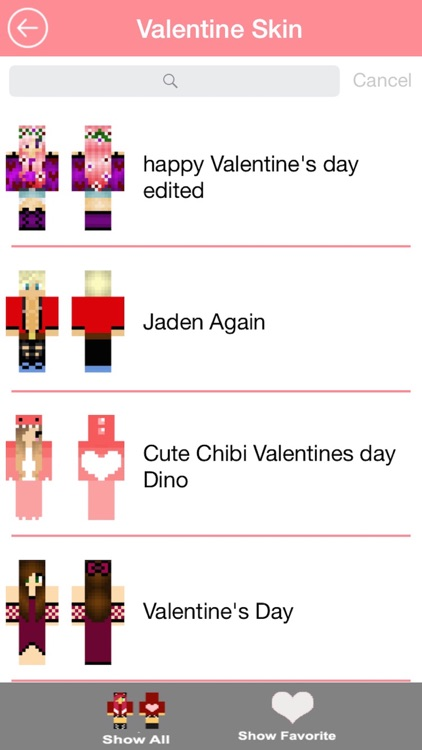 Free Valentine Skins for Minecraft PE screenshot-3