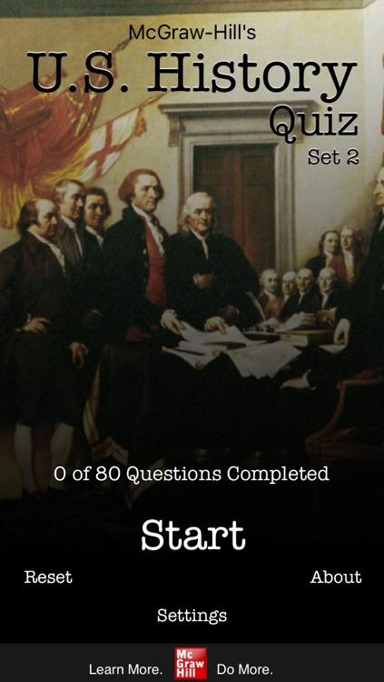 McGraw-Hill U.S. History Quiz Set 2