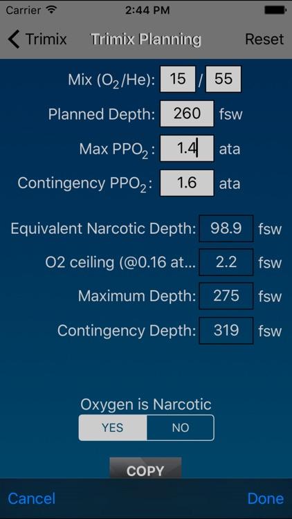 Dive Calculator screenshot-4