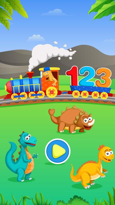 Dinosaur Number Train Game for Kids Free screenshot one