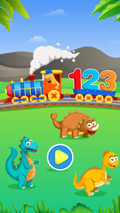 Dinosaur Number Train Game for Kids Free screenshot one