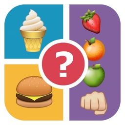 QuizPop Mania! Guess the Emoji Food - a free word guessing quiz game