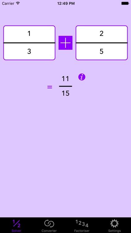 Fraction Help — Calculator + Working